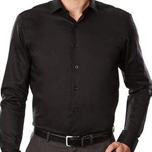 Kenneth Cole Dress Shirt Black Slim Fit